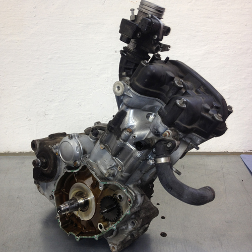 BMW F650GS Motor ausgebaut