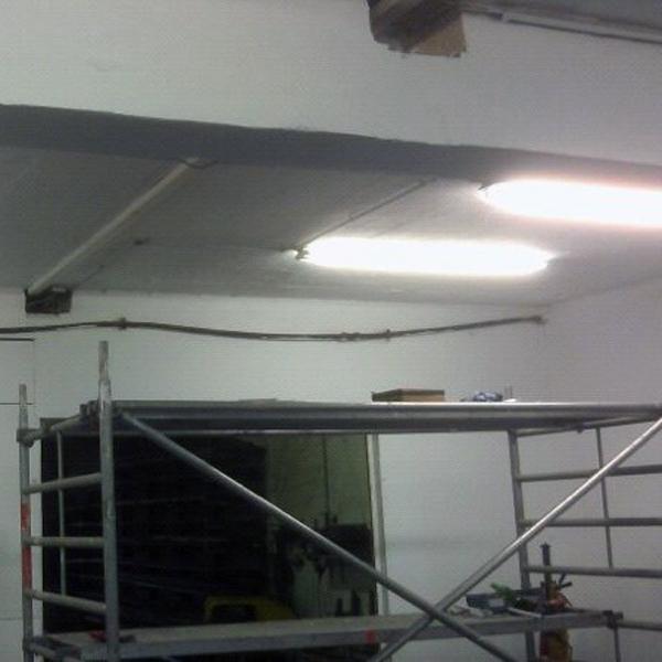 Es werde Licht - die gesamte Elektrik musste auf den aktuellen Stand der Technik gebracht werden.